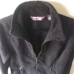 Eddie Bauer Fleece Jacket Size XL Black